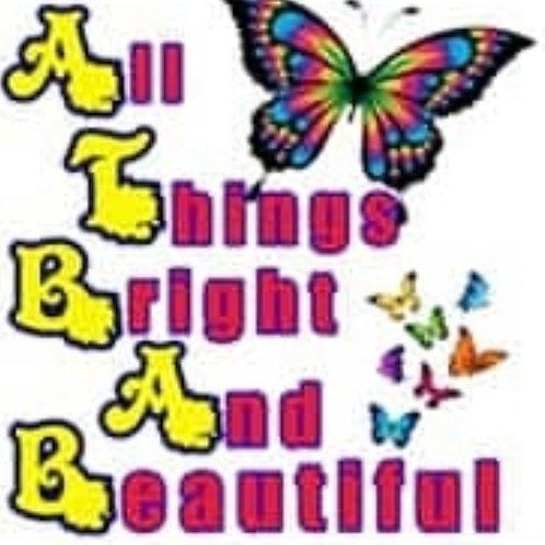 "Print - All Things Bright 7 Beautiful - 5""x5""/ Heat Transfer"