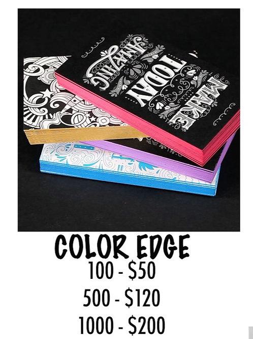 Triple Layer Color Edge Business Card - 100