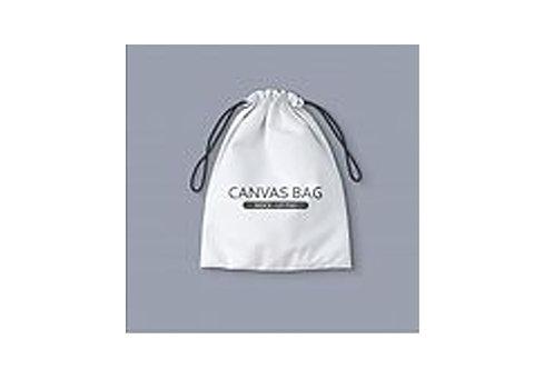 White Canvas Drawstring Bag