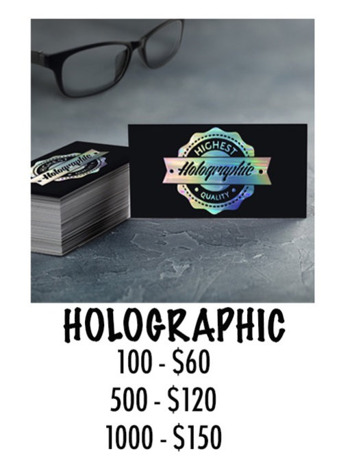 Holographic Business Card - 100