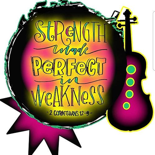 "Print - Strength Made Perfect - 5""x5""/ Heat Transfer"