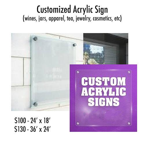 Acrylic Wall Sign