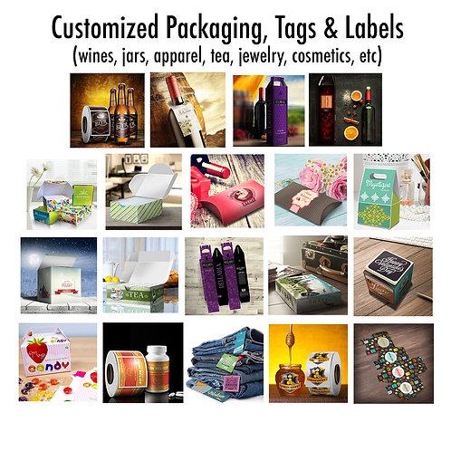 Custom Packaging, Tags & Label
