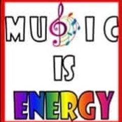 "Print - Music is Energy - 5""x5""/ Heat Transfer"