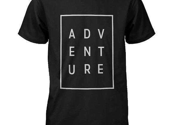 Adventure Men's T-Shirt Trendy Typographic Tee Cute Short Sleeve Shirt