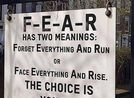 Fear happens in stages....
