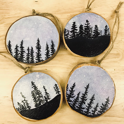 Birch Tree Ornaments