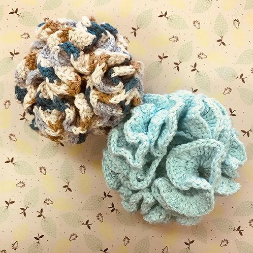 Handknit Bath Pouf