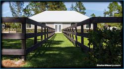 Split paddock to barn