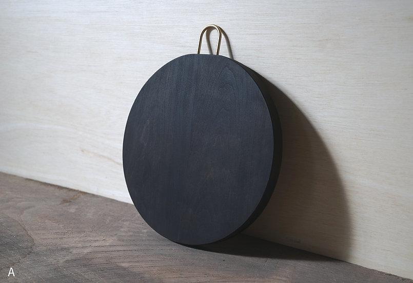 丸まな板 / チェリー / 黒染