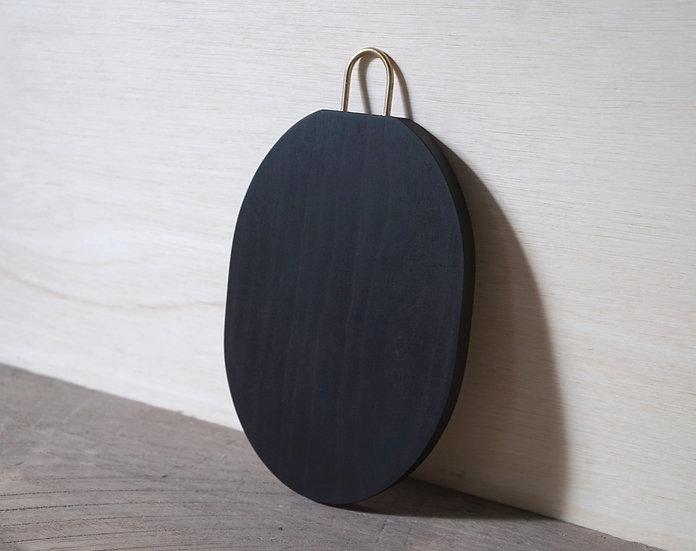 楕円まな板 / チェリー 大 黒染め C