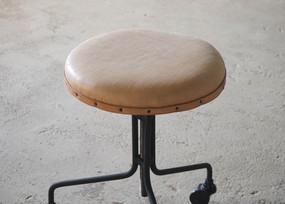 丸椅子 馬革 キャメル