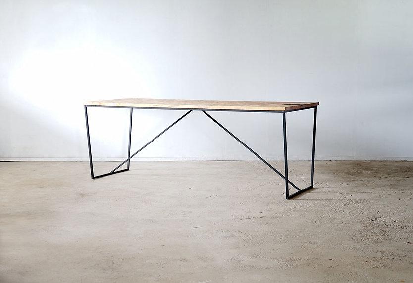 枯白 台形 ダイニングテーブル