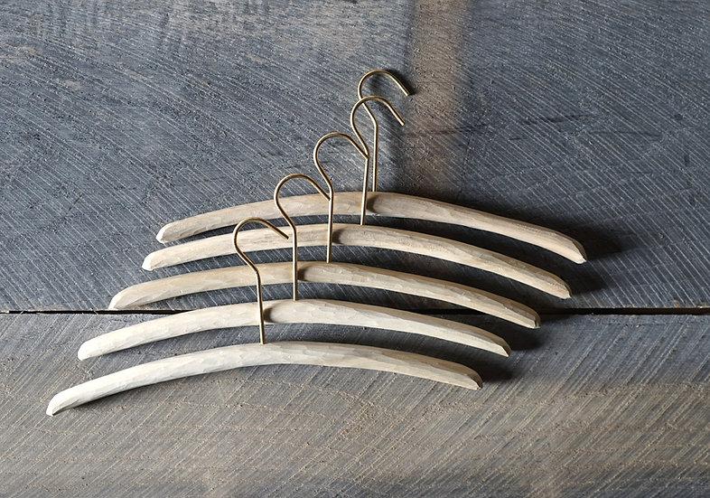 スティックハンガー 手彫り ホオ M