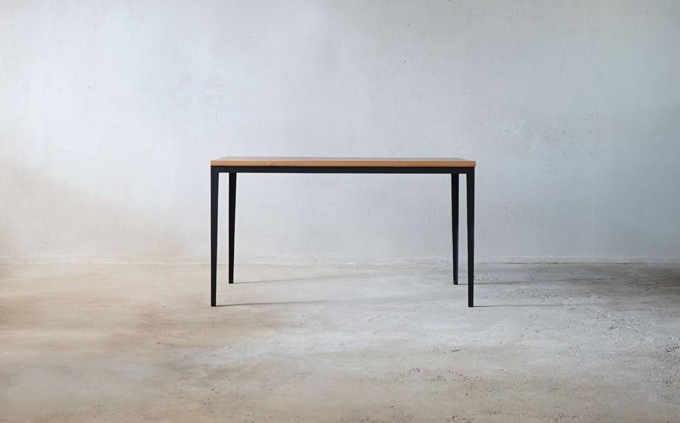 枯白 細脚 ダイニングテーブル