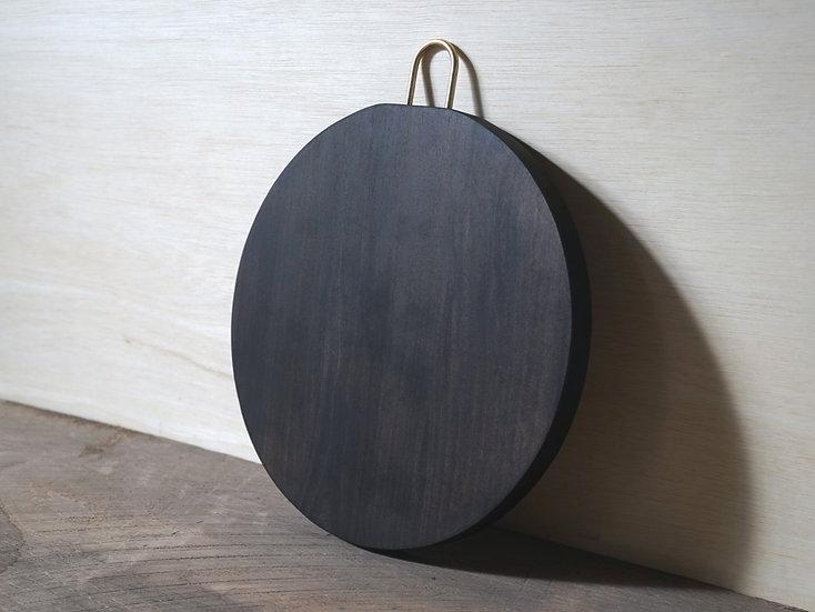 丸まな板 / チェリー 3枚接ぎ φ300 杢あり黒染 E