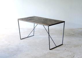枯白 台形テーブル 一点品