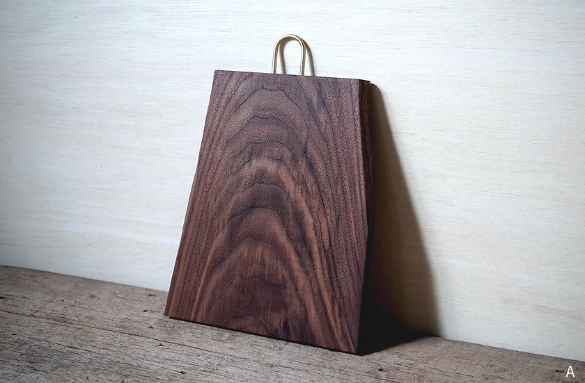 木の形まな板 ウォールナット