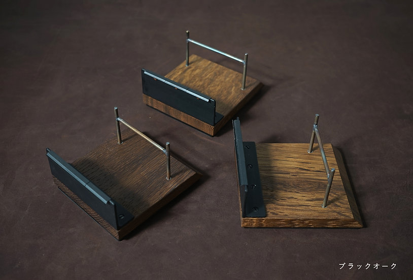 マスキングテープカッター 木台 4本用