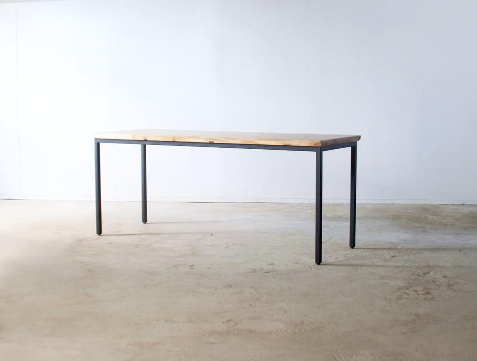 枯白 角脚 ダイニングテーブル