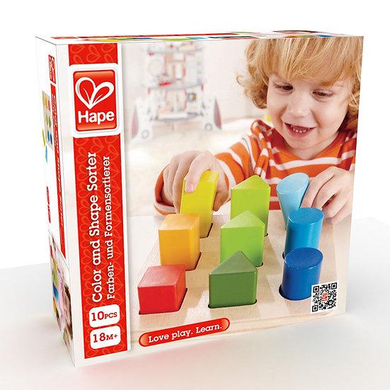 Puzzle cores e formas - Hape