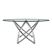 DT10605S- Lotus table, Stainless steel b