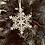 Thumbnail: Kersthangers sneeuwvlok, 3 stuks.