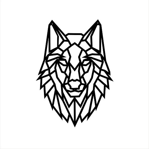 Wanddecoratie Wolf.