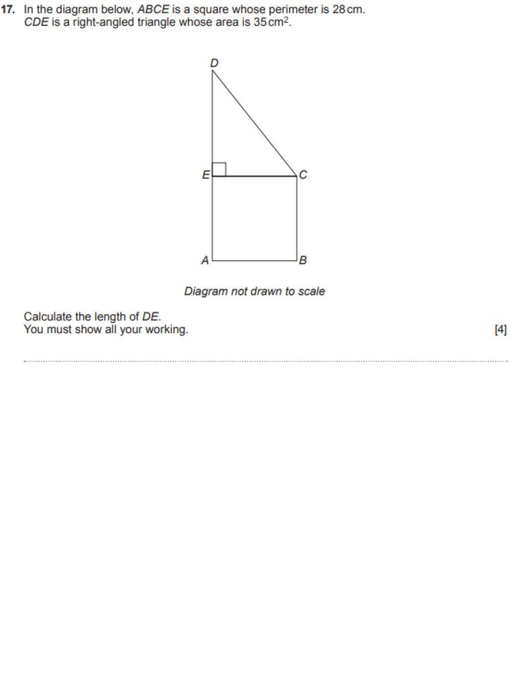 GCSE past paper question