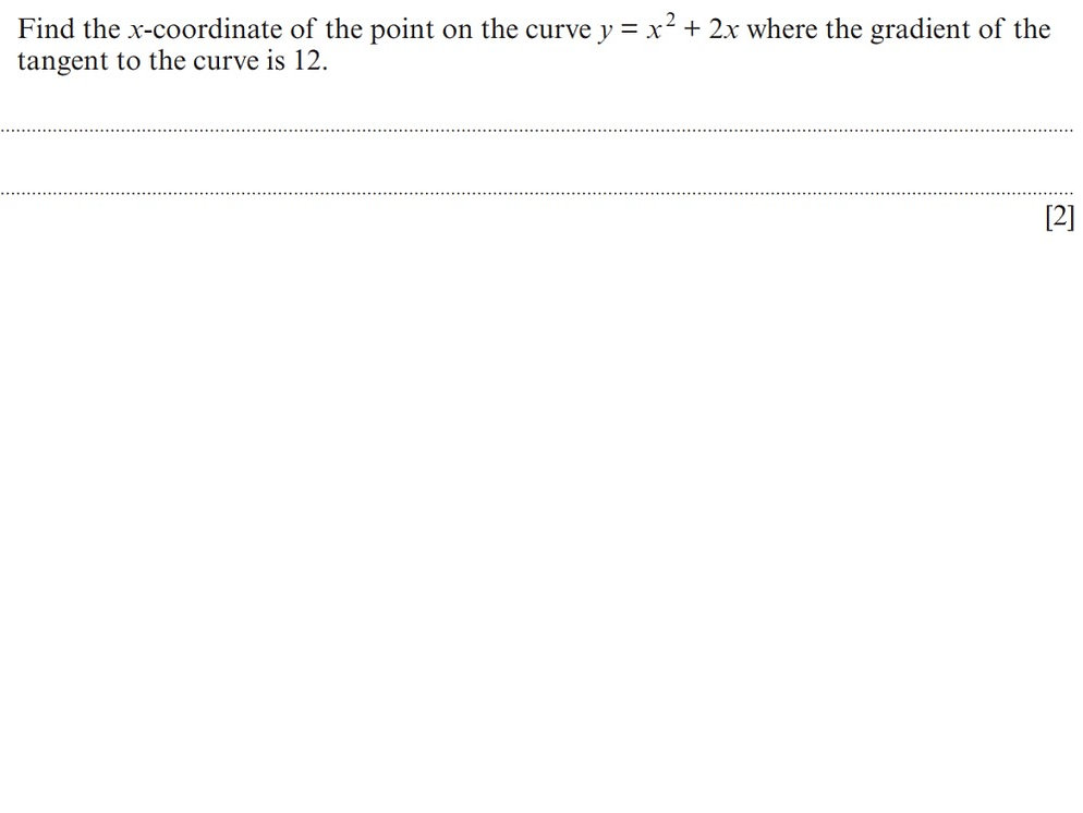 Additional maths question