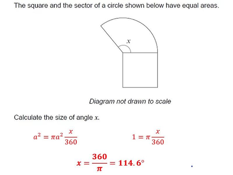 GCSE question solution
