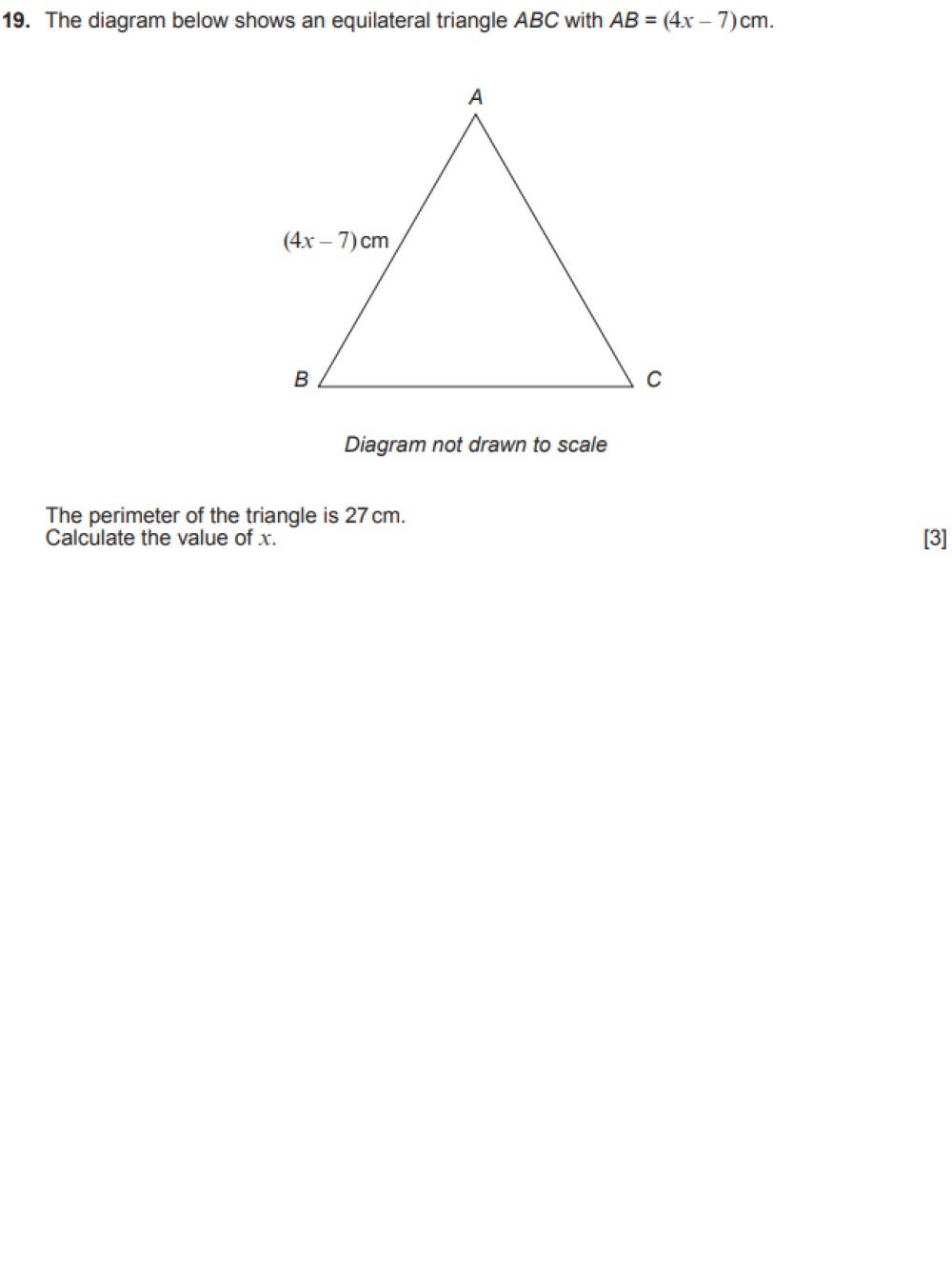 GCSE past paper question