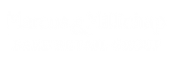 Marcus and Millichap Bare Retail Group White Logo