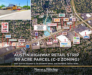 Marcus and Millichap Listing: Austin Highway Retail Strip