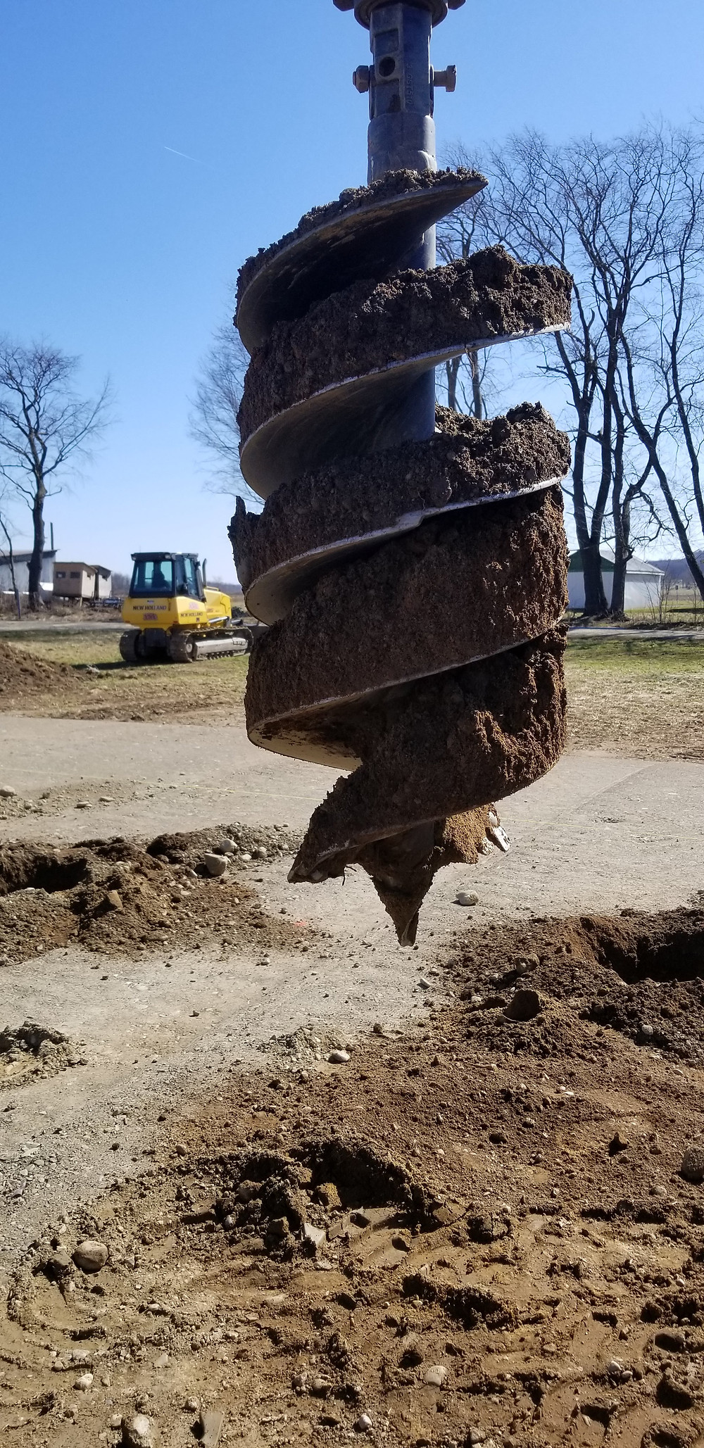 This is the drill to dig the holes