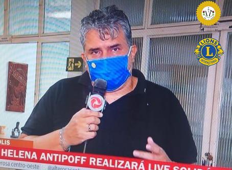 Em entrevista à TV Alterosa, presidente do Helena Antipoff detalha Live Solidária