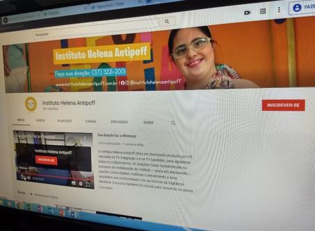 Helena Antipoff cria canal e busca inscritos para 1ª live