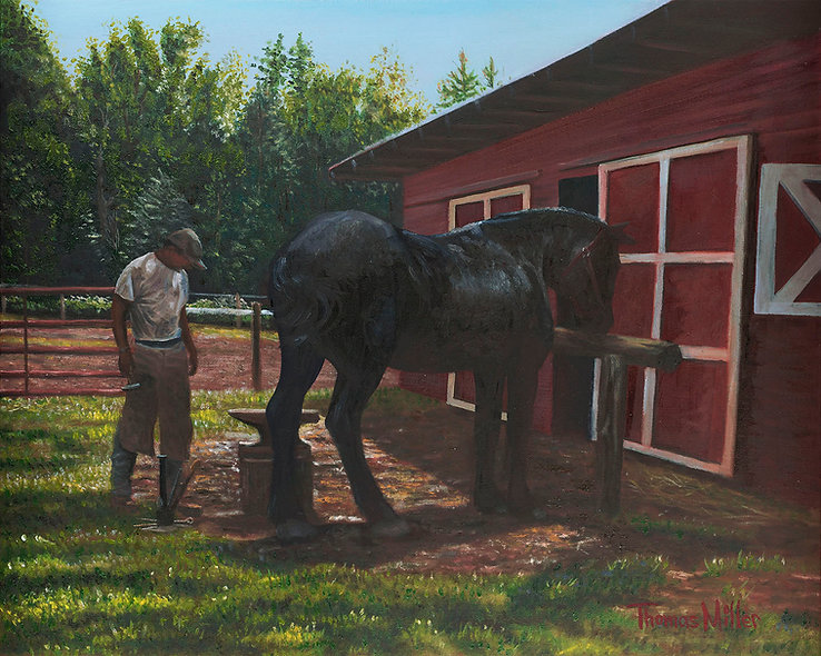 """""""The Frustrated Farrier"""" Original"""