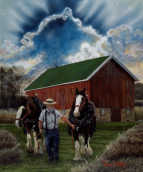 """""""God and Good Horses""""  Original - SOLD!"""