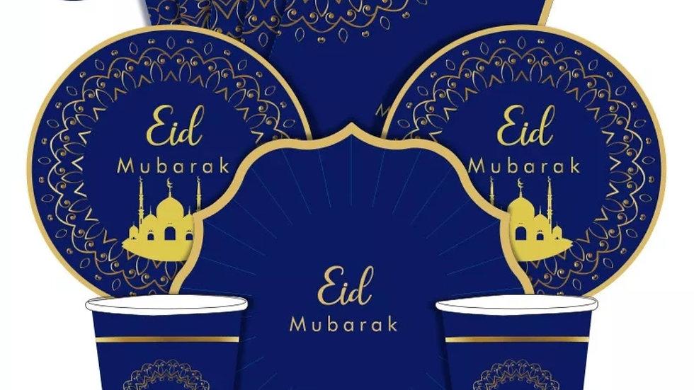 8 piece Eid Mubarak dinner set