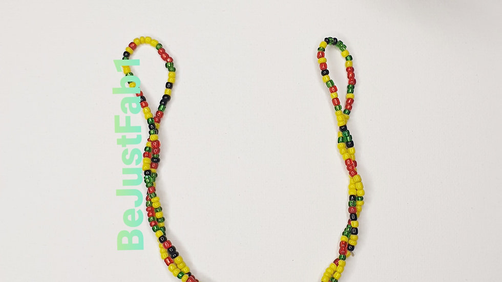 Uberaba Nano Bead in Red, Yellow, Black and Green