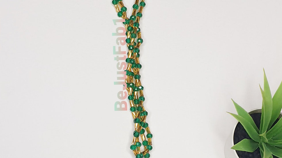 Tacoma Bead in Green and Gold