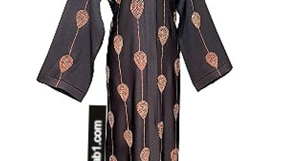 OPen Front Abaya with Rhinestone