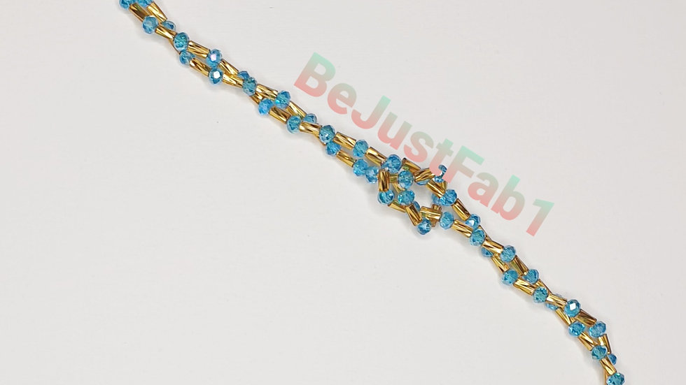 Salford Bead in Blue and Gold