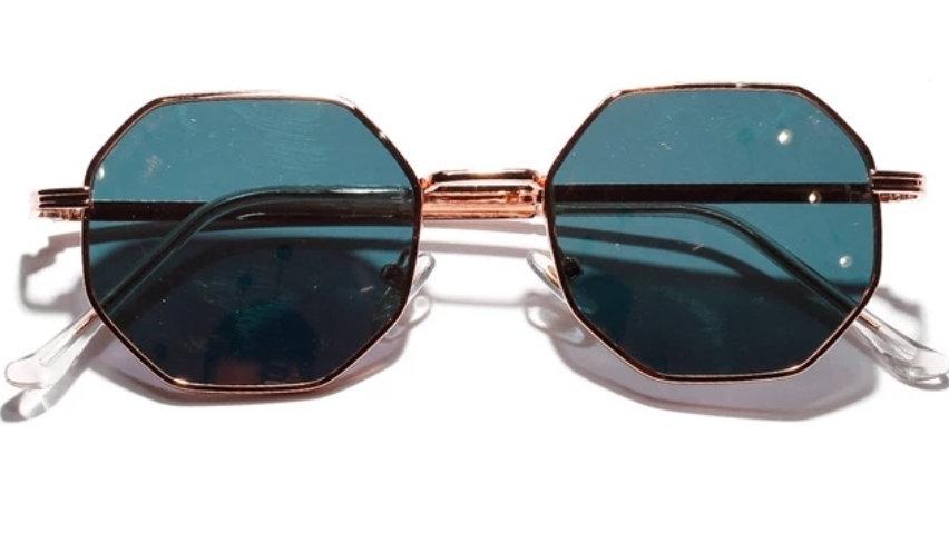 Hexagone Sunglasses - Brown Shade