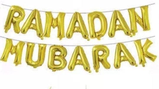 Ramadan Mubarak Foil Letter Helium Balloon