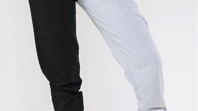 2 Tone Block Relaxed Fit Joggers