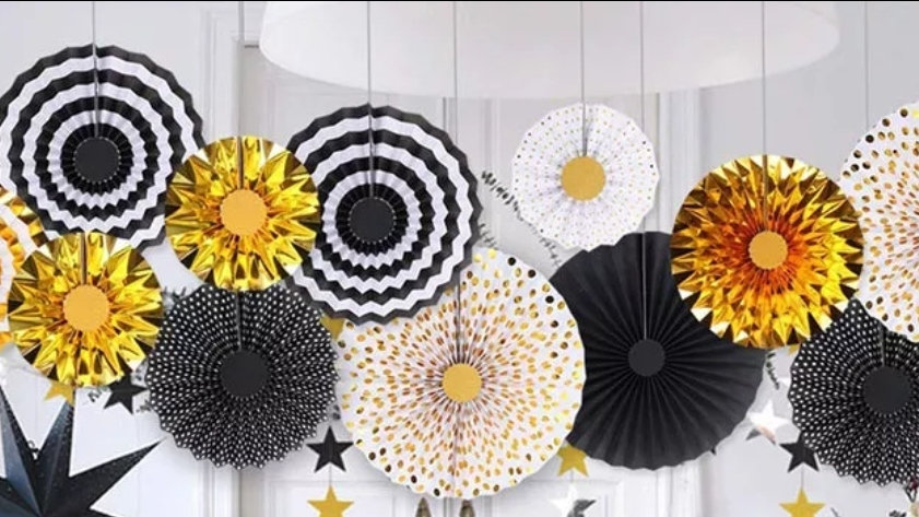 Party Decorations Fan set of 3