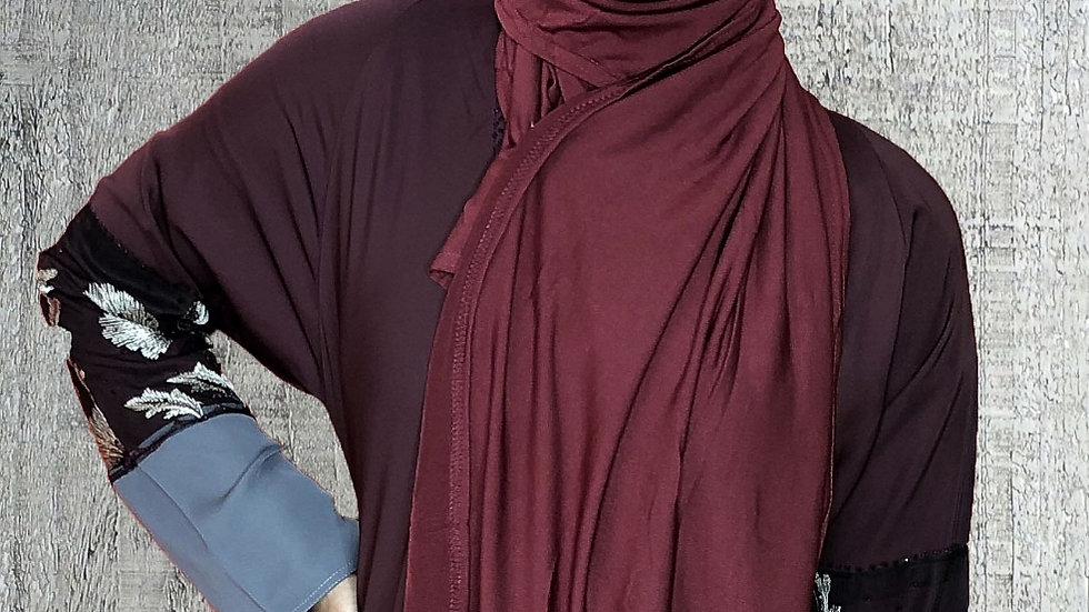 Burgundy Hijab Scarf Turban