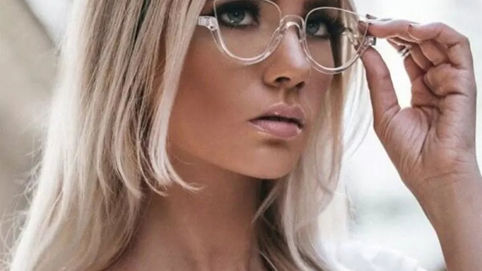 Sexy Clear Glasses with Gem 💎